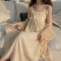 温柔淑女气质中长款裙子夏季2019新款V领吊带裙显瘦高腰连衣裙女