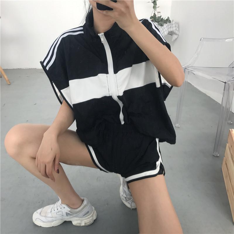 運動無袖女套裝