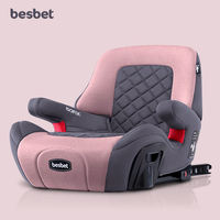 Besbet child booster pad 3-12 years old portable car with simple safety seat ISOFIX interface