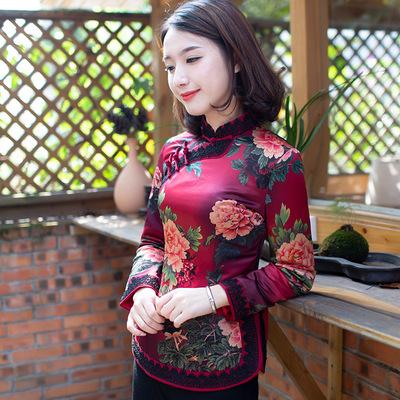 如意风唐装女上衣旗袍冬装棉衣中国风日常改良短款长袖夹棉上衣