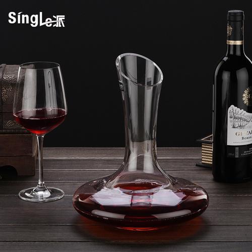 欧式无铅水晶玻璃斜口红酒醒酒器创意葡萄酒分酒器醒酒壶酒具家用