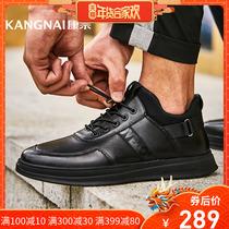 冬季新款牛皮系带马丁靴男短靴中帮工装靴方头骆驼男靴特卖