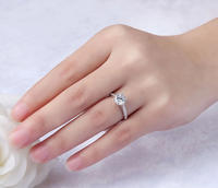Genuine sterling silver 18k white gold one carat ladies couple diamond ring wedding diamond ring birthday gift jewelry