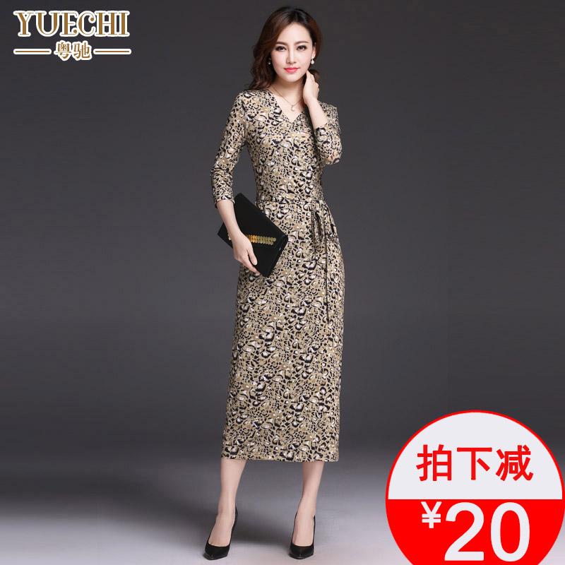 秋季豹纹连衣裙