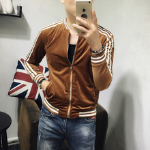 Men's long-sleeved jacket, spring and autumn self-cultivation baseball collar, leisure jacket, Korean version of young students'thin handsome jacket