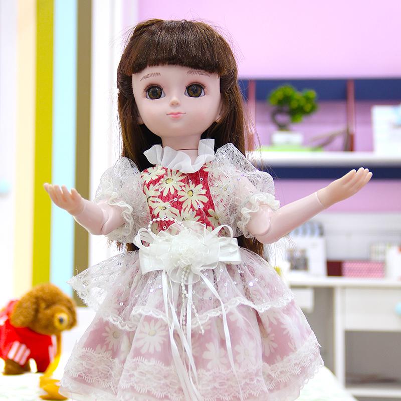 芭巴比娃娃套装女孩公主玩具会说话的洋娃娃女孩仿真智能对话儿童
