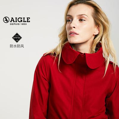 【18秋冬新品】AIGLE 艾高 女士中长款连帽GORE-TEX鱼尾夹克ANITA