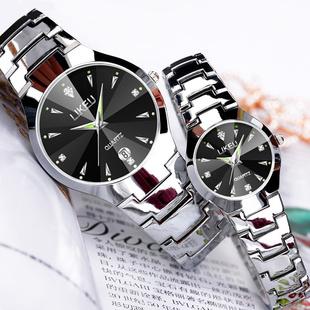 韩版 手表女士学生手表男士 简约时尚 女表情侣防水超薄石英男表腕表
