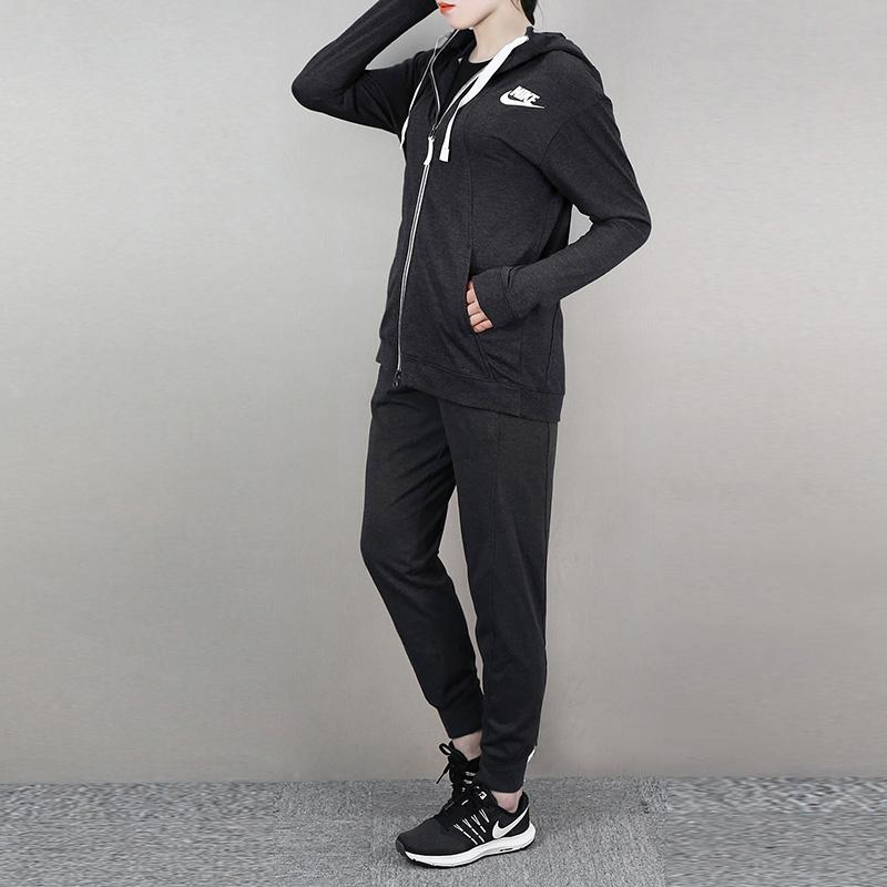Nike耐克套装女2018夏季女士运动服跑步夹克春秋外套休闲小脚长裤