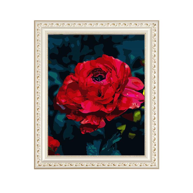 diy数字油画定制 竖版客厅风景花卉动漫大幅玄关手绘手工制作油画
