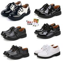 男童黑白色皮鞋2018春秋新款宝宝礼服鞋学生中大童表演出儿童单鞋
