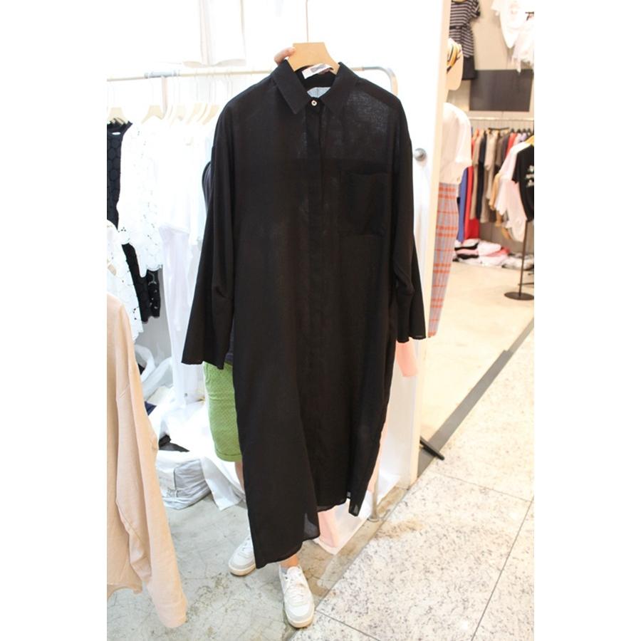 韩国东大门正品代购女装2018夏装女士长袖翻领系扣衬衫均码