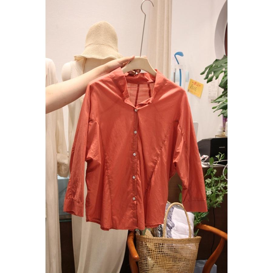 进口韩国东大门正品代购女装2018夏装女士休闲长袖系扣衬衫均码
