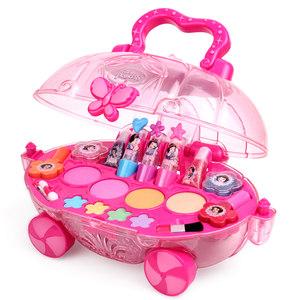迪士尼无毒儿童化妆品公主彩妆盒套装小女孩口红安全玩具生日礼物