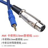 AMI MI109卡农头转3.5MM转换线 6.5MM话筒线 双卡侬电源麦克风线
