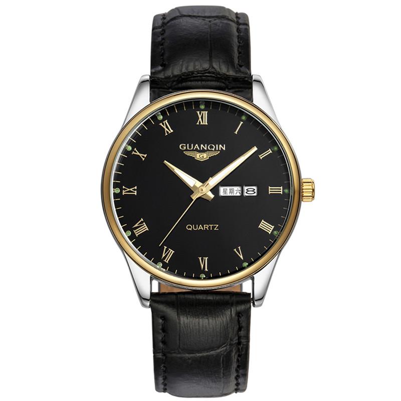 双日历男士商务手表