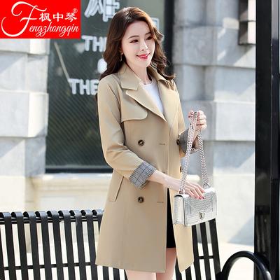 风衣女中长款韩版春季2018新款修身显瘦女装英伦风chic春秋装外套