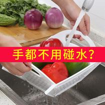 魔塑师可折叠水果盘客厅收纳篮厨房洗菜蓝家用淘米器收纳架沥水蓝