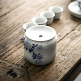 Pure hand-built water tea wash water tea wash small ceramic home retro Japanese-style cup wash Jingdezhen tea residue barrel