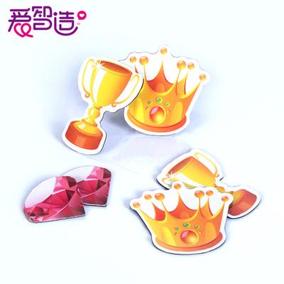磁性贴考核奖励皇冠奖杯红旗钻石蛋糕奖状白板贴磁贴冰箱贴可定制