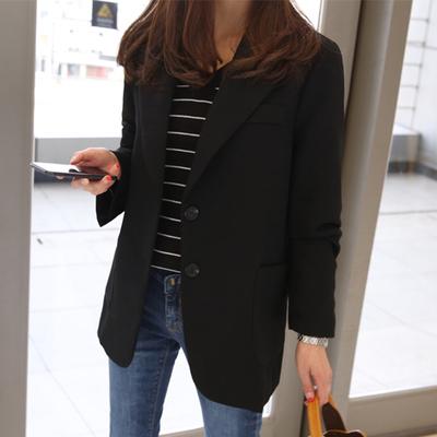 蕾可妮斯小西装女2019新款春秋女士西服长袖韩版修身显瘦短款外套