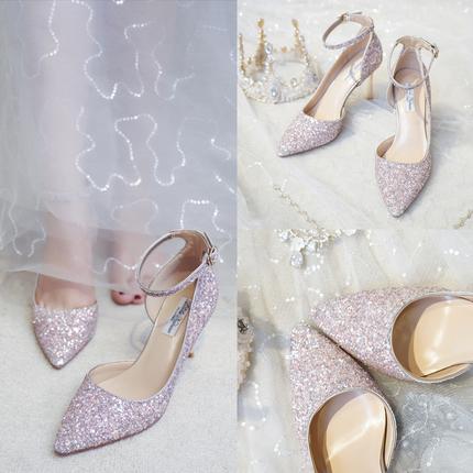 爱丽拉683粉新娘鞋