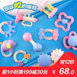 婴儿玩具牙胶摇铃3-6-12个月男宝宝 益智0-1岁 新生儿女孩手摇铃