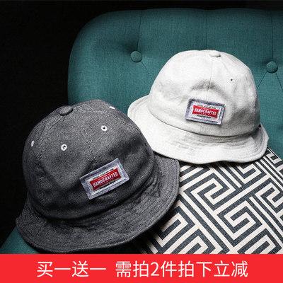 买一送一需拍2件拍下立减 个性街头贴布渔夫帽子男女潮盆帽遮阳
