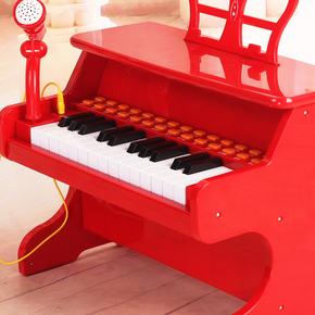 宝丽儿童电子琴带麦克风男女童孩多功能早教音乐钢琴礼物2-3-6岁