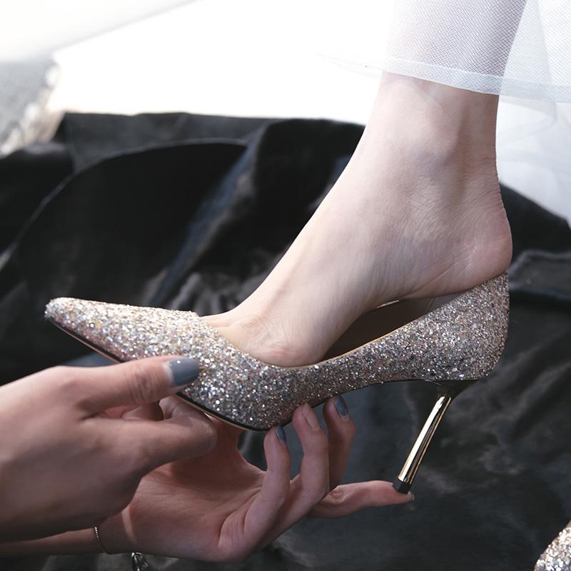 单鞋女亮片