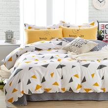四件套全棉1.8m床斜纹纯棉1.5简约被套2米公主风被罩床单床上用品