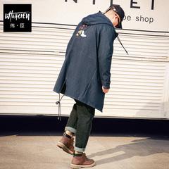 男装冬装加厚风衣