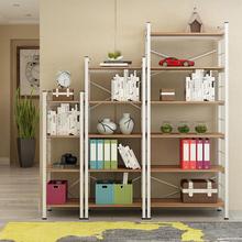 定制超市置物架墙上书架墙壁铁艺客厅隔板简约现代钢木书架搁板柜