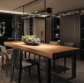 美式实木小户型饭桌 长方形餐桌 现代简约西餐厅餐 桌椅组合 包邮
