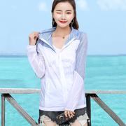 2018新款夏季超薄透气防晒衣女装沙滩服户外长袖百搭短外套空调衫