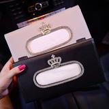车载纸巾盒抽创意女士可爱装饰车用纸巾盒挂式遮阳板吸顶式抽纸盒