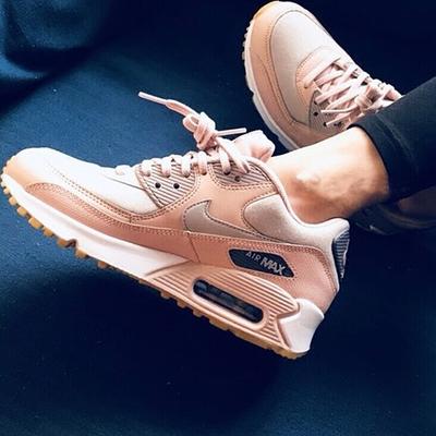 耐克女鞋Air Max 90气垫粉色跑步运动休闲鞋916787 AO1521 325213
