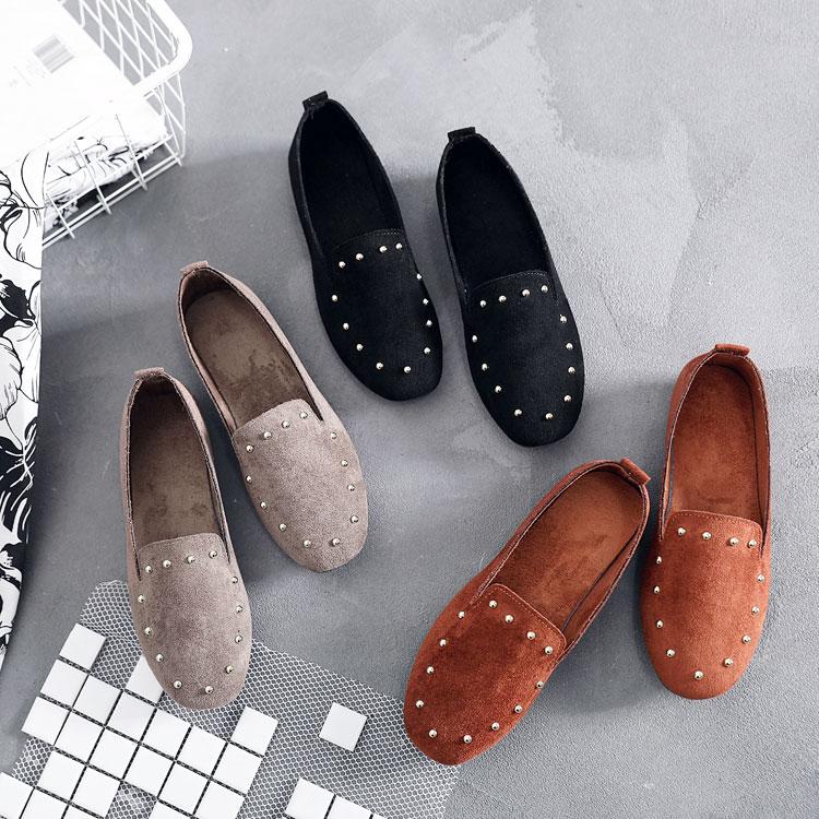 黑色豆豆鞋女软底