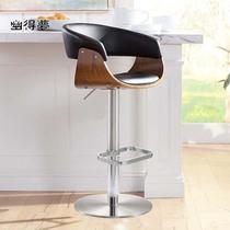 北歐高腳凳臺凳餐廳創意個姓升降酒吧椅瑞舍現代簡約吧椅子家用