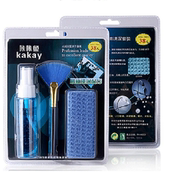 Squid notebook cleaning kit / three-piece / LCD screen maintenance cleaning liquid + cleaning cloth + brush