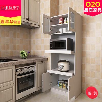 定制餐边柜现代简约 餐厅柜子茶水柜多功能微波炉厨房置物储物柜在哪买