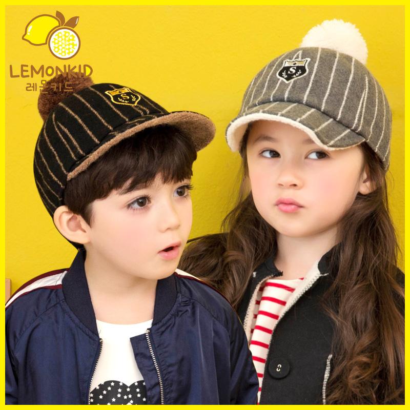 韩版新款儿童秋冬棒球帽男童女童宝宝鸭舌帽加绒保暖潮冬季帽子5元优惠券