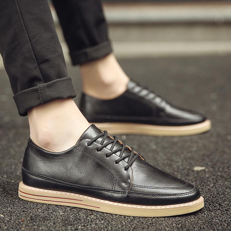 冬季英伦男板鞋潮