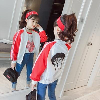 童装女童秋季时尚外套2018新款秋装中大童夹克韩版运动衫儿童开衫