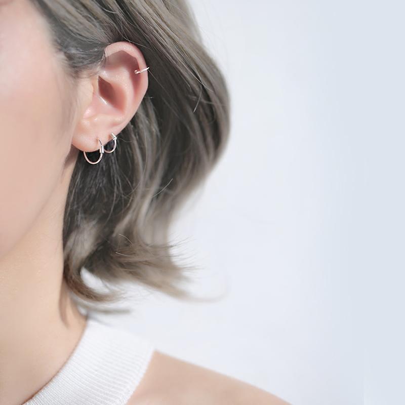 精致纯银耳环