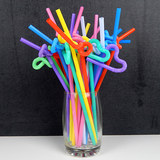 Creative Arts disposable straw color styling bent straw juice drinks tea length free shipping