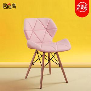 创意休闲北欧椅子靠背办公电脑椅子实木餐桌椅家用简约现代ins风
