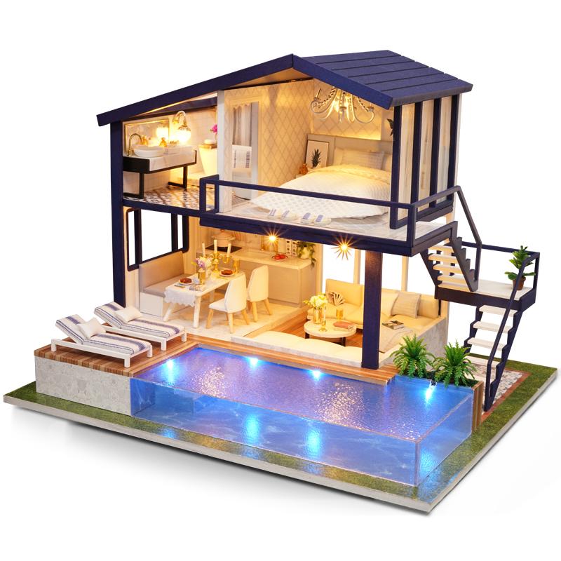 智趣屋diy小屋手工制作房子大型别墅超难拼装模型送女孩玩具礼物