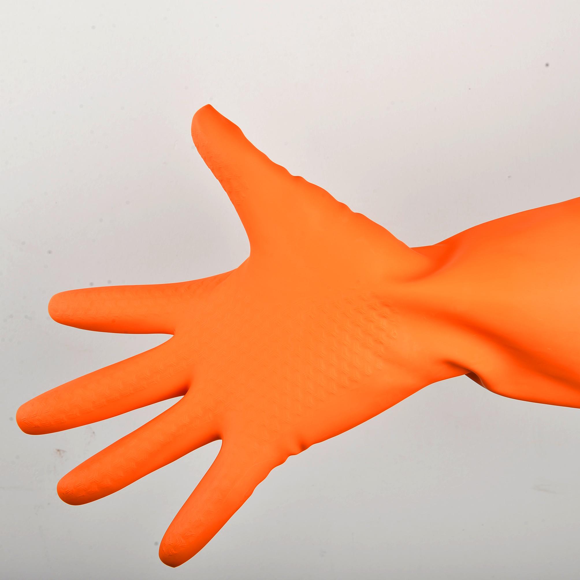 牛筋乳胶手套加厚耐用耐磨橡胶家务厨房洗碗洗衣塑胶家用胶皮手套
