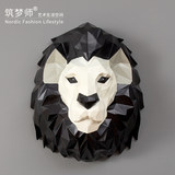 Dream jeweler Creative lion stereo wall hanging Nordic style origami wall decoration wall decoration living room porch